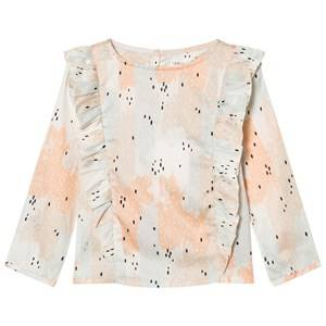 Carrément Beau Girls Tops Pink Pink Patterned Frill Front Blouse