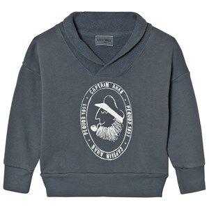 Bobo Choses Unisex Jumpers and knitwear Blue Fisherman Sweatshirt Captain Ahab