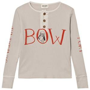 Bobo Choses Boys Tops Beige Buttons T-Shirt Bow