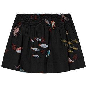 Bobo Choses Girls Skirts Black Deep Sea Flared Skirt
