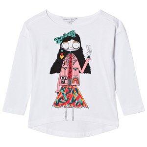 Little Marc Jacobs Girls Tops White White Miss Marc Print Long Sleeve Tee