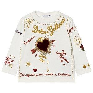 Dolce & Gabbana Girls Tops White Amore e Fantasia Top