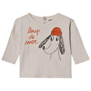 Bobo Choses Unisex Tops Beige Baby T-Shirt Loup de Mer