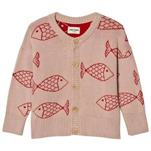 Bobo Choses Unisex Jumpers and knitwear Pink Knitted Cardigan Shoaling Fish