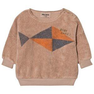 Bobo Choses Unisex Jumpers and knitwear Beige Baby Sweatshirt Fish
