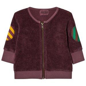 Bobo Choses Unisex Jumpers and knitwear Brown Baby Zip Sweatshirt Octopus