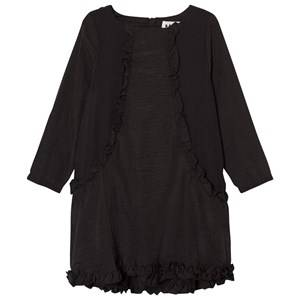 Image of Molo Girls Dresses Black Cathi Dress Black Bean