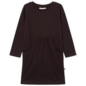 Image of Molo Girls Dresses Black Caro Dress Black Bean
