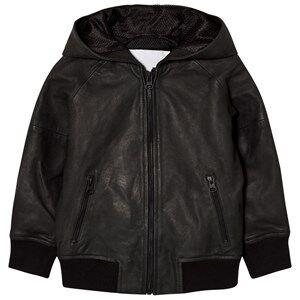 Molo Boys Coats and jackets Black Hector Leather Jacket Black