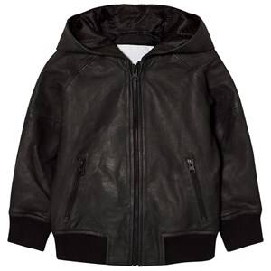 Molo Boys Coats and jackets Black Hector Leather Jacket Black