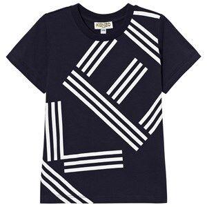 Kenzo Boys Tops Navy Navy Logo Front and Back Print Tee