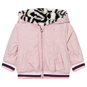 Kenzo Girls Coats and jackets Pink Pink Tiger Print Reversible Puffer Coat