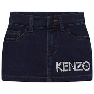 Kenzo Girls Skirts Blue Dark Indigo Branded Denim Skirt