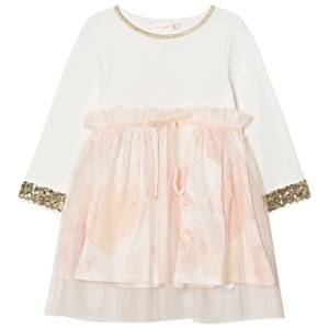 Billieblush Girls Dresses Pink White Pale Pink Sequin Floral Dress