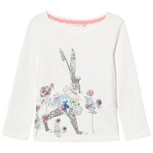 Billieblush Girls Tops White White Bunny Floral Print Tee