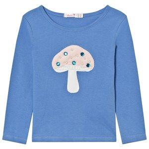Billieblush Girls Tops Blue Blue Mushroom Applique Tee