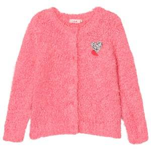 Image of Billieblush Girls Jumpers and knitwear Pink Pink Fluffy Knit Cardigan