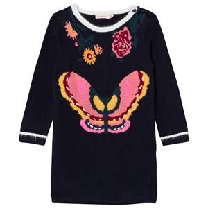 Billieblush Girls Dresses Navy Navy Knitted Butterfly Dress