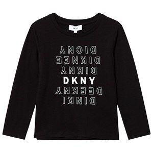 DKNY Girls Tops Black Black Branded Tee