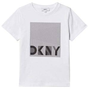 DKNY Boys Tops White White Branded Graphic Tee
