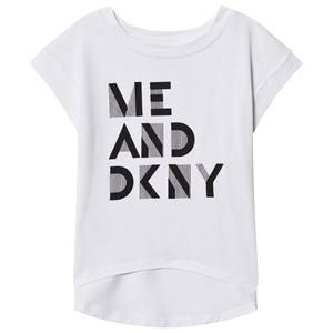 DKNY Girls Tops White White Me DKNY Print Tee
