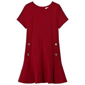 Image of Chloé Girls Dresses Red Red Milano Dress Branded Details