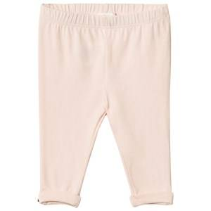 Image of Chloé Girls Bottoms Pink Pale Pink Legging Gold Button Detail