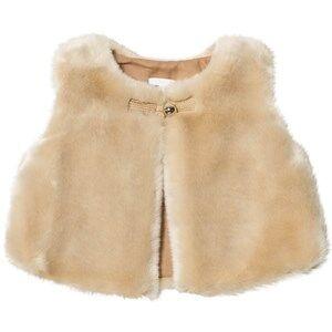Chloé Girls Coats and jackets Beige Beige Faux Fur Vest