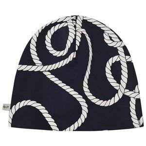 Emma och Malena Unisex Headwear Blue EM Beanie Rope Navy
