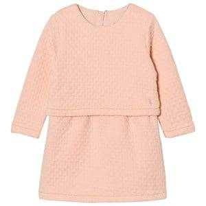 Image of Carrément Beau Girls Dresses Pink Pink Quilted Long Sleeve Dress