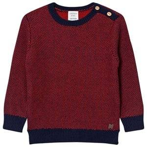 Carrément Beau Boys Jumpers and knitwear Red Red Navy Knit Sweater