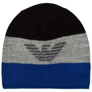 Giorgio Armani Junior Boys Headwear Blue Blue Grey Logo Beanie