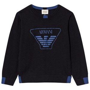 Giorgio Armani Junior Boys Jumpers and knitwear Black Black Blue Logo Knit Sweater
