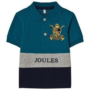 Tom Joule Boys Tops Blue Blue Navy Color Block Polo