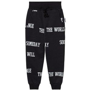 Someday Soon Boys Bottoms Black World Pants Black