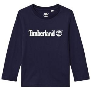 Timberland Boys Tops Navy Navy Script Logo Tee
