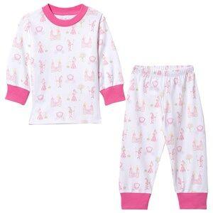 Kissy Kissy Girls Nightwear Pink Enchanted Princess Print Pyjamas
