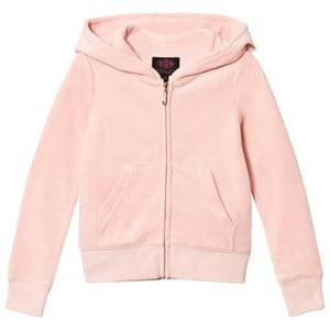 Juicy Couture Girls Jumpers and knitwear Pink Pale Pink Jewelled Scotty Logo Velour Hoodie