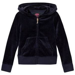 Juicy Couture Girls Jumpers and knitwear Navy Navy Jewelled Scotty Logo Velour Hoodie