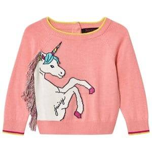 Image of Juicy Couture Girls Jumpers and knitwear Pink Pink Unicorn Knit Sweater