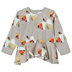 Wolf & Rita Girls Tops Grey Luisa Blouse No Electricity