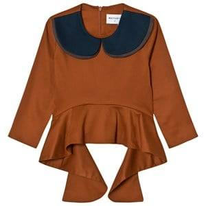 Wolf & Rita Girls Tops Orange Teresa Blouse Orange