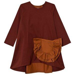 Wolf & Rita Girls Dresses Orange Claudia Dress Bordeaux