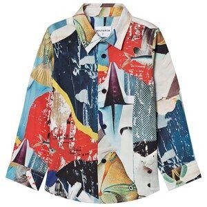 Wolf & Rita Boys Tops Blue Roberto Shirt Shimmering Blues
