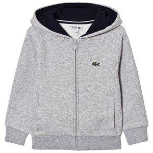 Lacoste Boys Jumpers and knitwear Grey Zippered Fleece Sweatshirt Gray