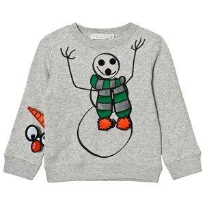 Stella McCartney Kids Boys Jumpers and knitwear Grey Grey Snowman Print Biz Sweatshirt