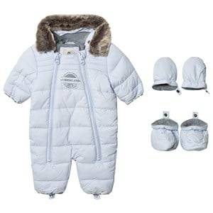 Timberland Boys Coveralls Blue Pale Blue Puffer Hooded Coverall