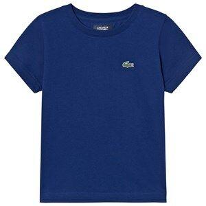 Lacoste Boys Tops Blue Branded Ultradry Tee Dark Royal