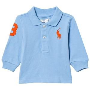 Ralph Lauren Boys Tops Blue Mesh Long Sleeve Polo Chatham Blue