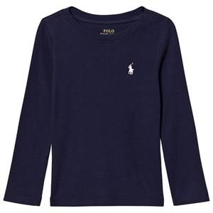 Ralph Lauren Girls Tops Navy Navy Ultra-Soft Long Tee